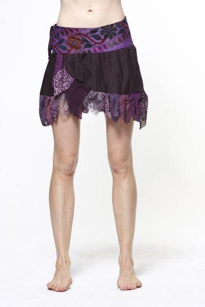 Gypsie mini skirt with frills