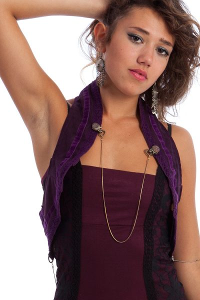 Steampunk waistcoat with chains