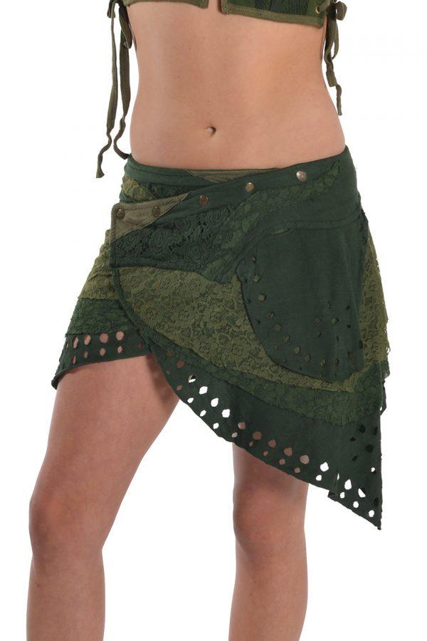 Ragged wrap around miniskirt