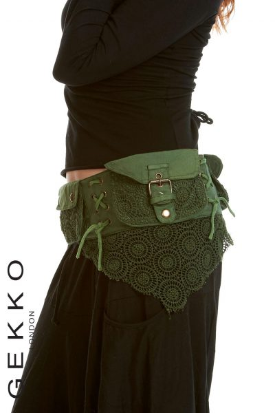 Cotton and Lace pocket belt