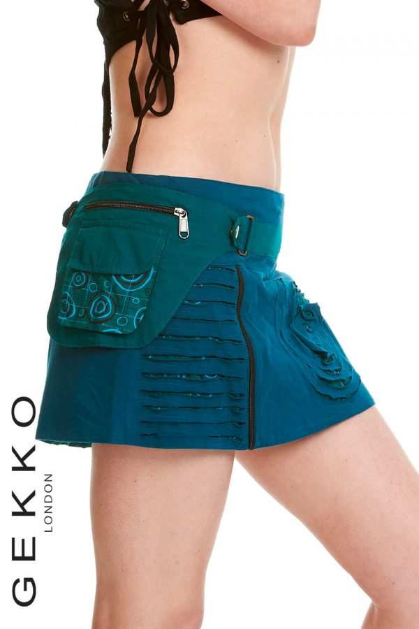 PSYRANCE MINI SKIRT WITH DETACHABLE POCKET