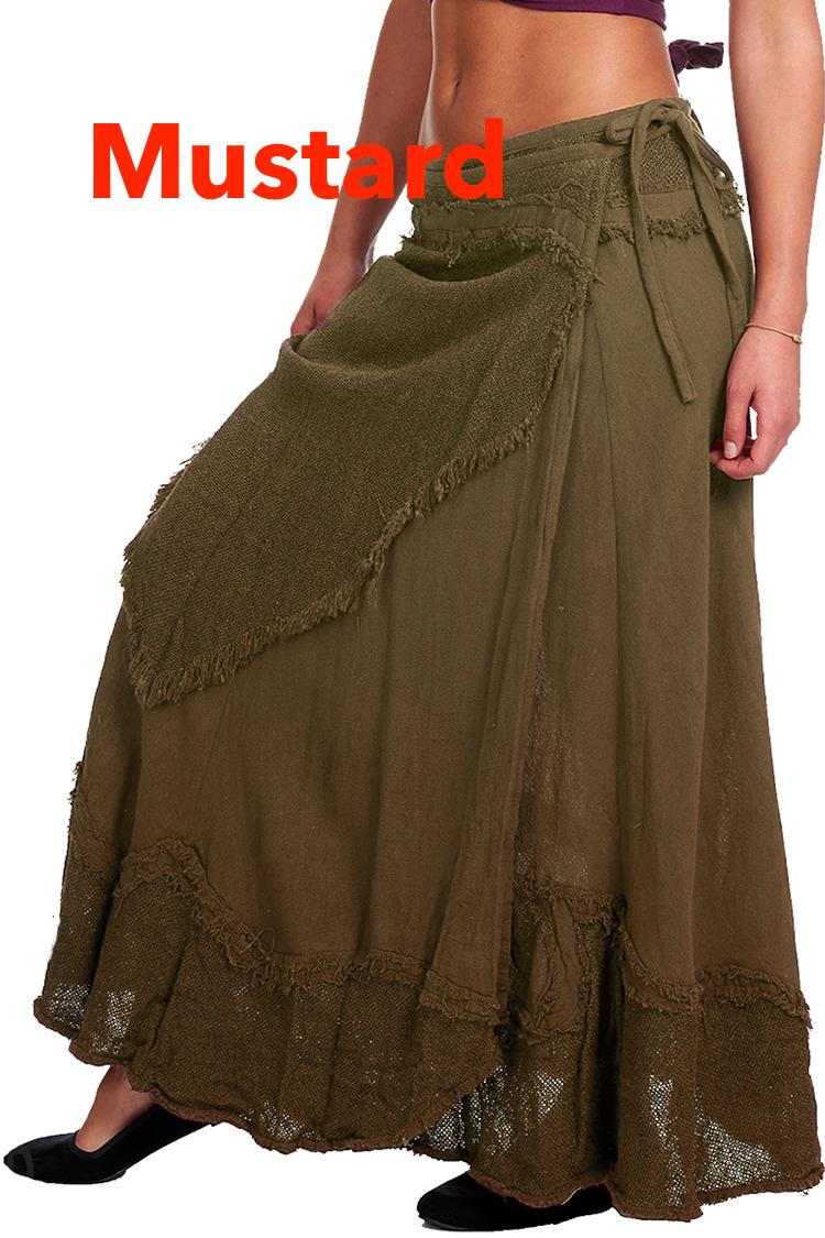 Wrap Round Flamenco Skirt Gekko Bohotique