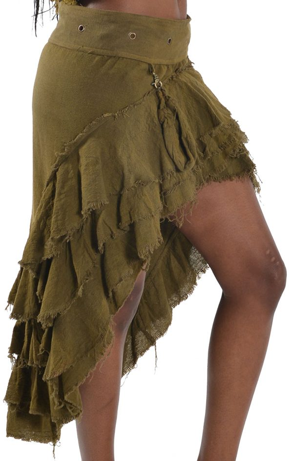 STEAMPUNK SKIRT WITH DETACHABLE POUCH