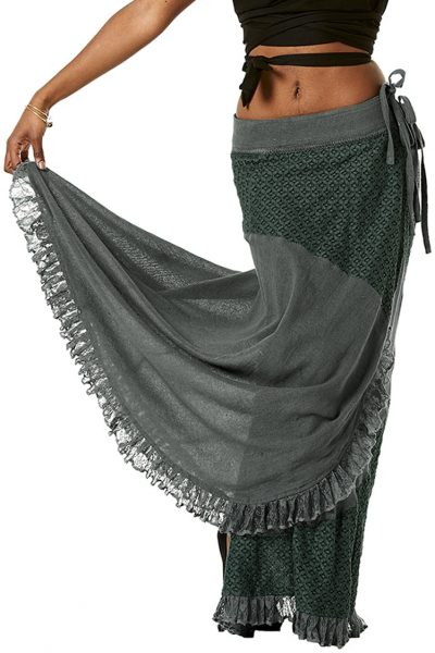 STEAMPUNK SKIRT WITH LACE INSERT