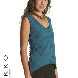Tie Dye vest with scooped neck