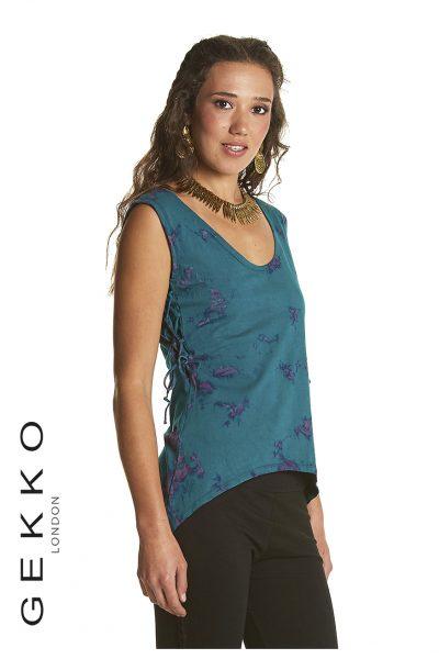 Tie Dye vest with scooped neck