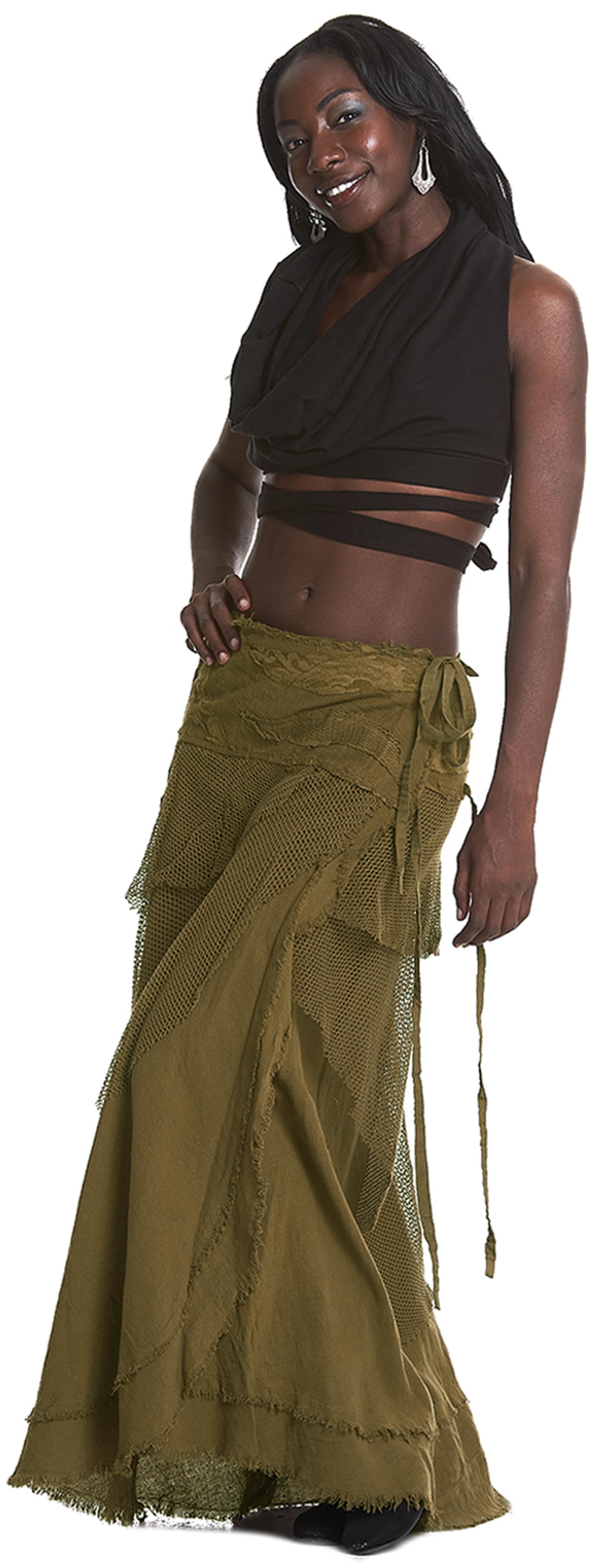 wrap around mermeid skirt