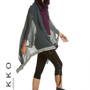 Open Poncho with Arm Holes