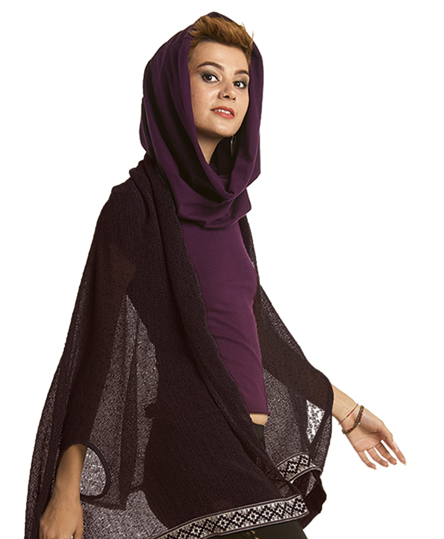 Open Poncho With Arm Holes Gekko Bohotique