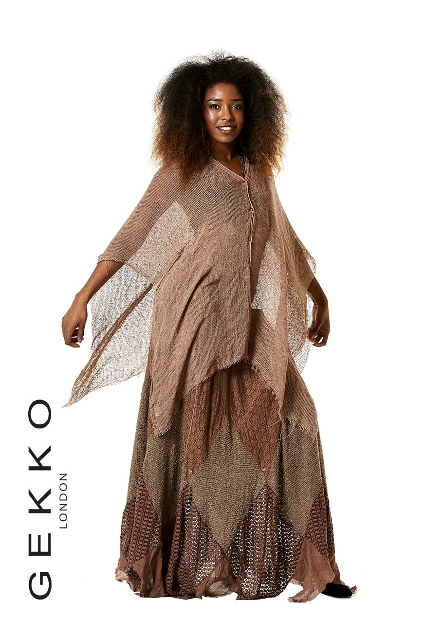 Gypsie poncho with front buttons