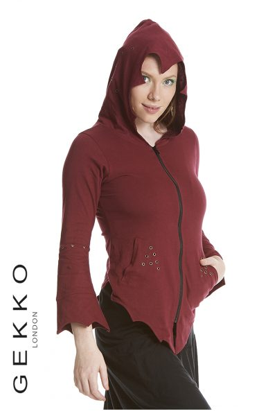 Pixie jacket with eyelets