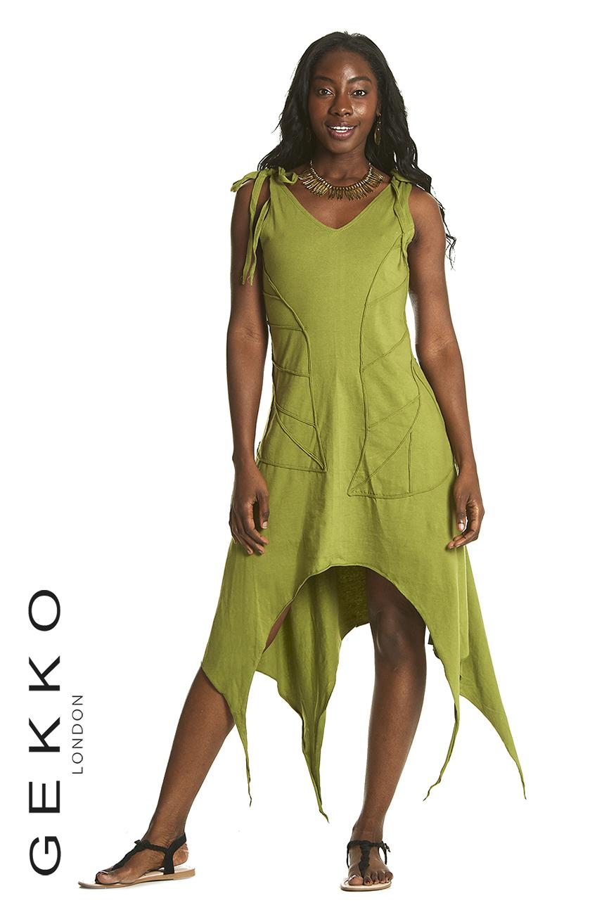Fairy dress with leaf motif