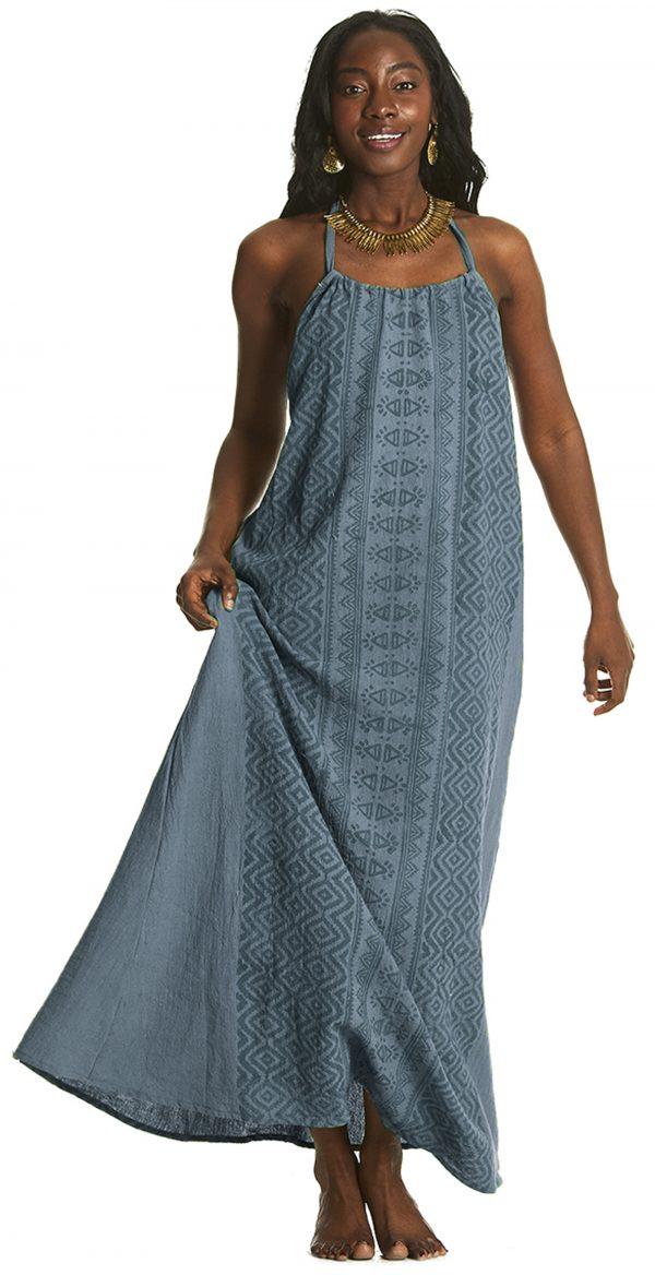 long dress on beautiful model