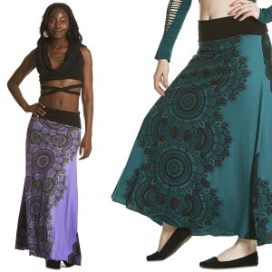 LONG SKIRT WITH AFRICAN PRINT
