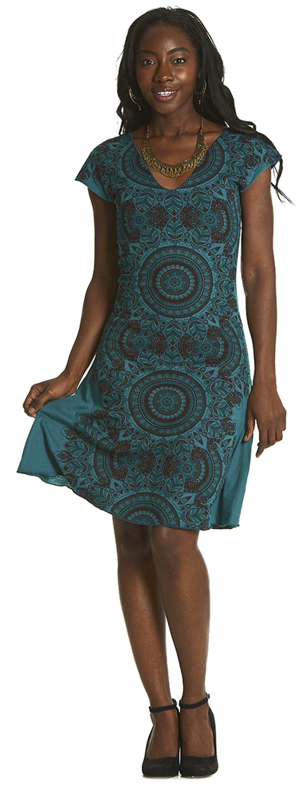 Ethnic Dress with V-neck