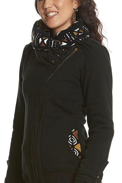 Zipped jacket with Large Neck