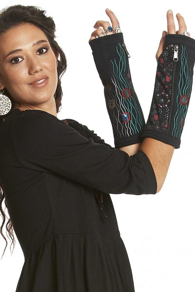 Jersey arm warmers with zip