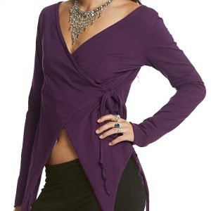 Wraparound Pixie Top with Long Sleeves